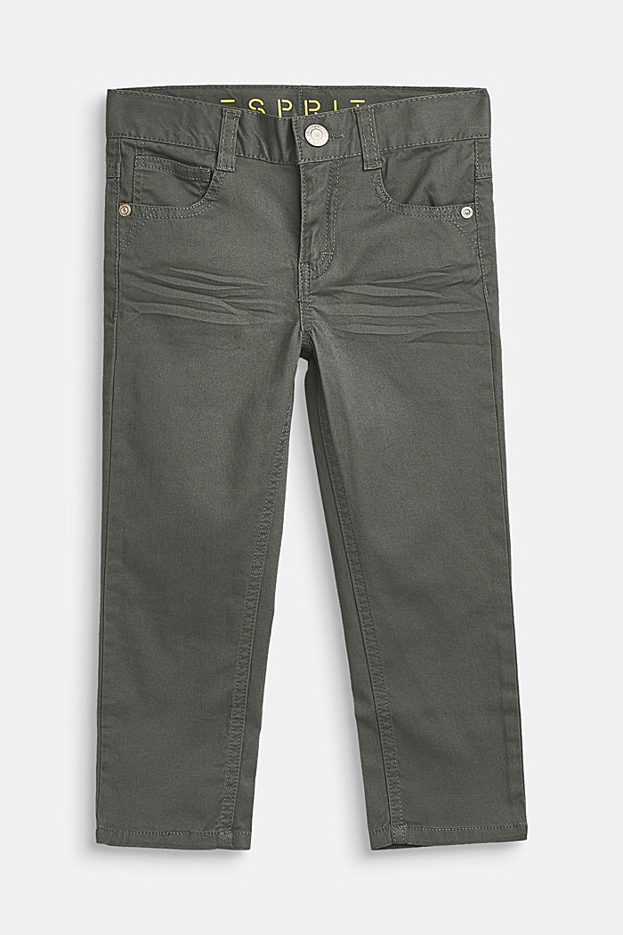 Hose aus Baumwoll-Stretch mit Verstellbund, LIGHT KHAKI, detail image number 0