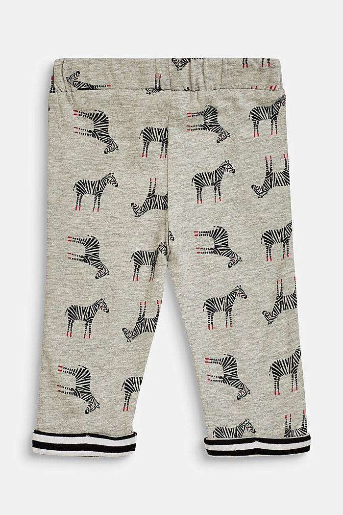 Leggings mit Zebra-Print, LCHEATHER SILVER, detail image number 1