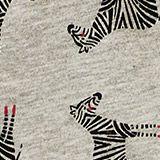 Zebra print leggings, LCHEATHER SILVER, swatch