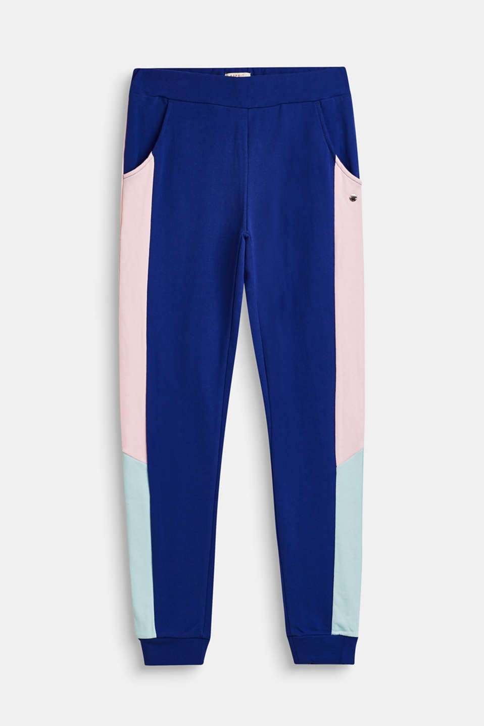 Esprit - Colour block tracksuit bottoms in 100% cotton