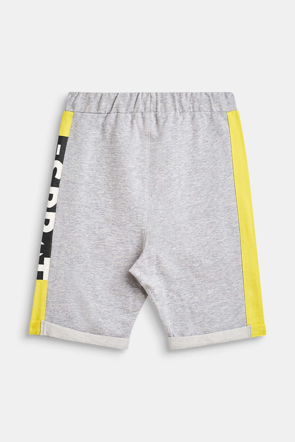 Sweatshirt shorts with a statement print, LCHEATHER SILVER, detail image number 1