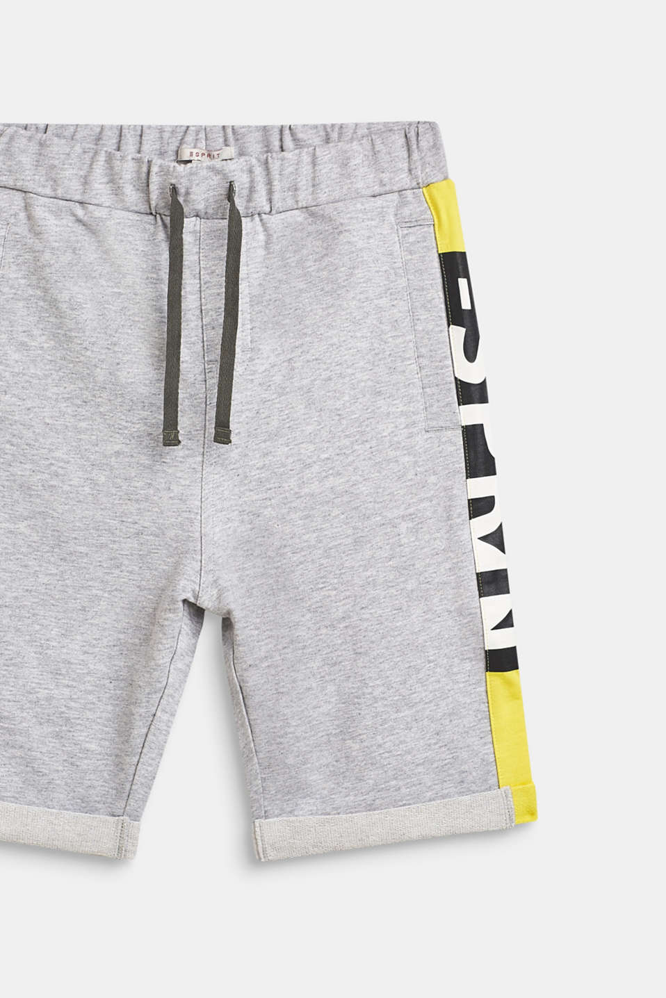 Sweatshirt shorts with a statement print, LCHEATHER SILVER, detail image number 3