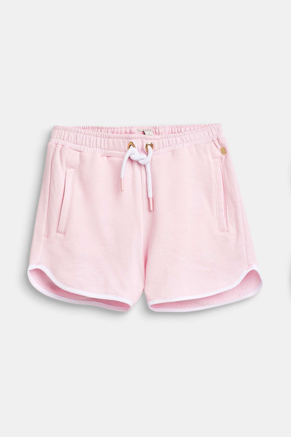 Sweatshirt shorts with piping, 100% cotton, LCBLUSH, detail image number 0