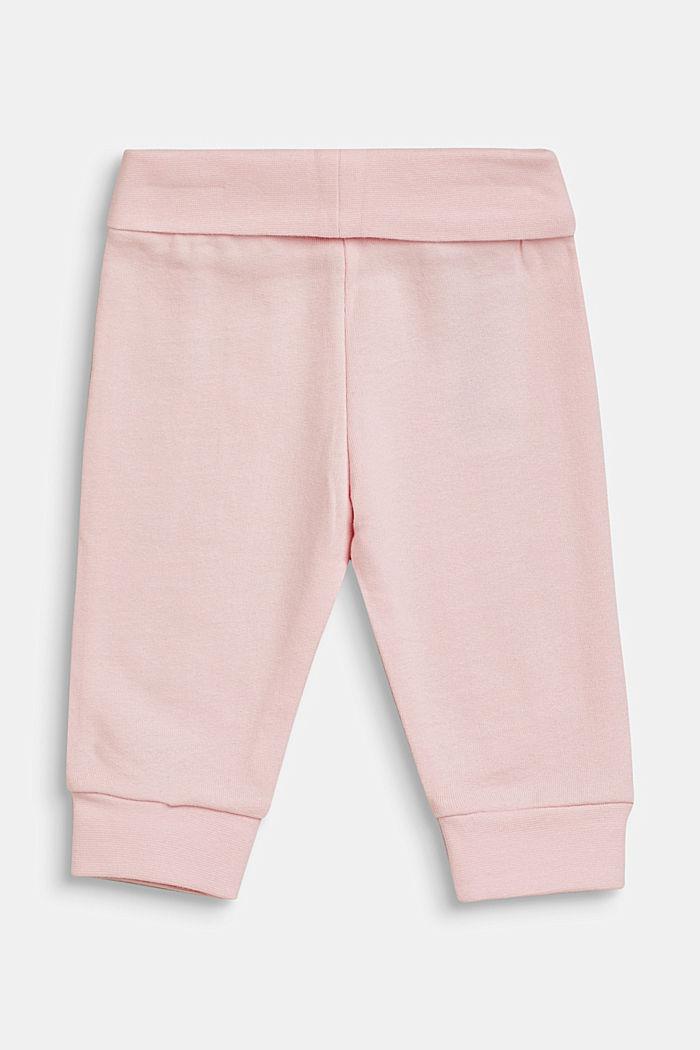 Pantalón de felpa con logotipo estampado, 100% algodón, LCBLUSH, detail image number 1