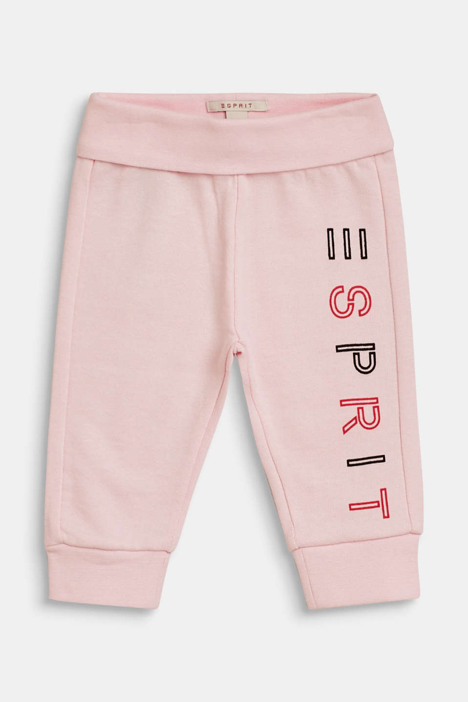 Esprit - Tracksuit bottoms with a logo print, 100% cotton