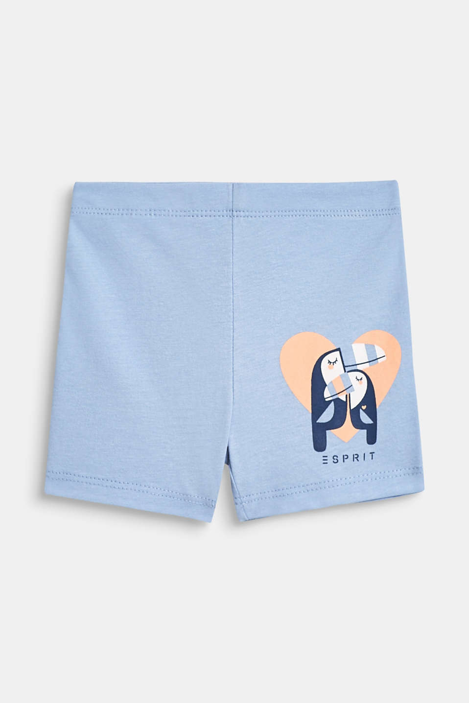 Jersey shorts with an animal motif, 100% cotton, LCSKY BLUE, detail image number 0