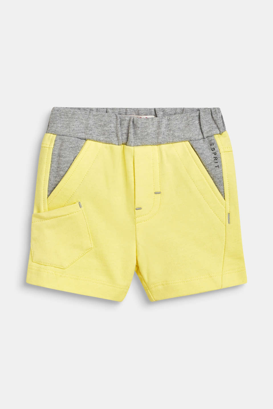 Esprit - Colour block short met contrasten