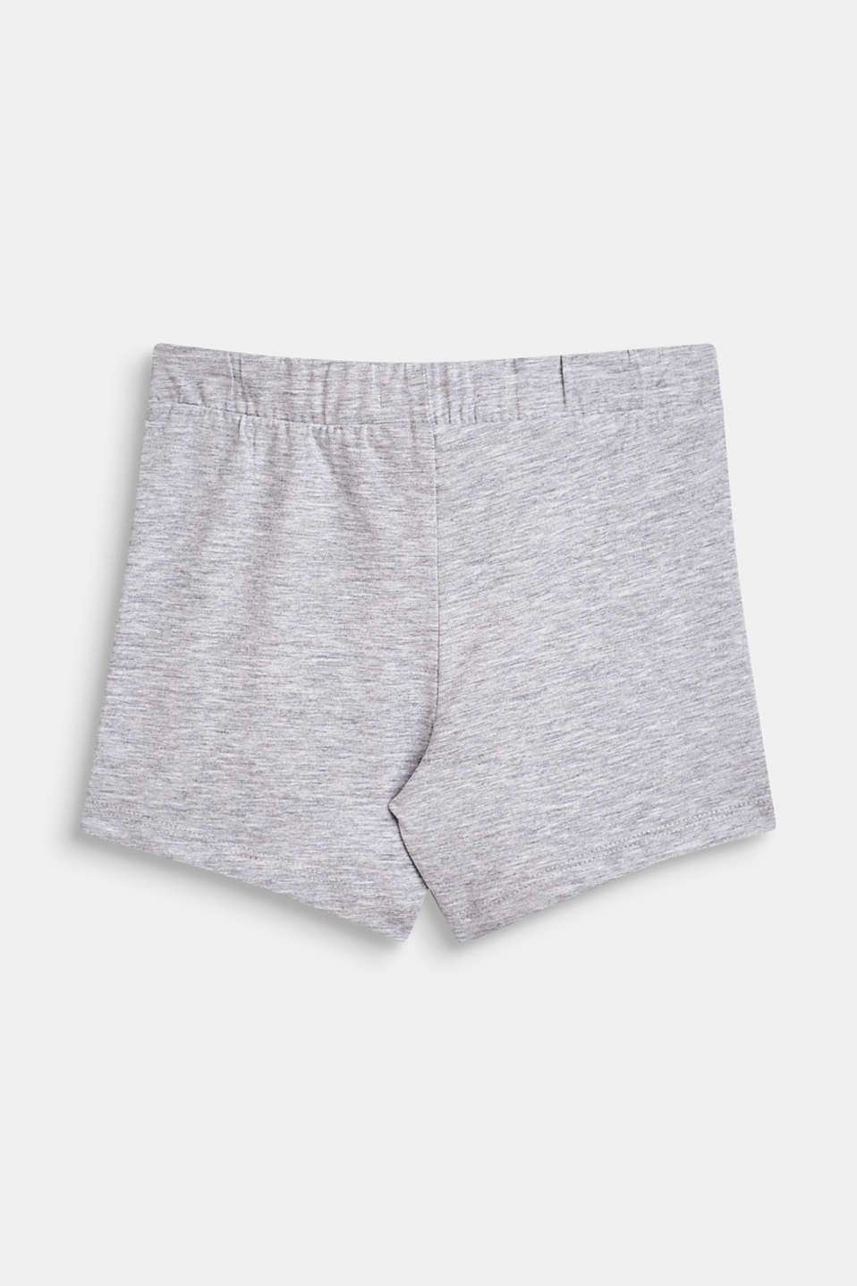 Jersey shorts with a glittering toucan print, HEATHER SILVER, detail image number 1