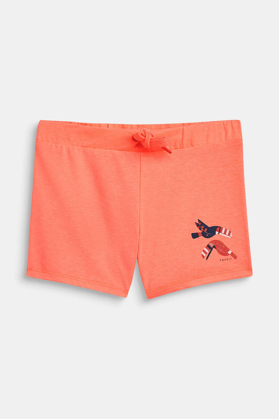 Shorts knitted, LCNEON CORAL, detail image number 0