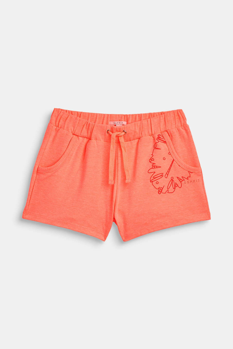Esprit - Jersey shorts with a glittering print