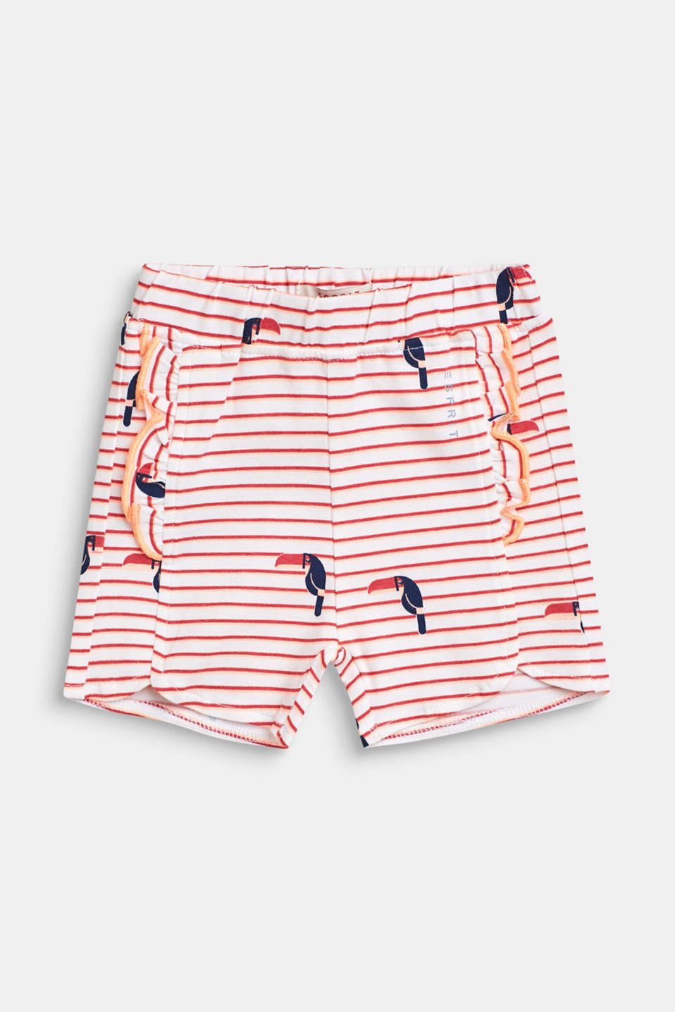Esprit - Short à imprimé toucan, en coton stretch