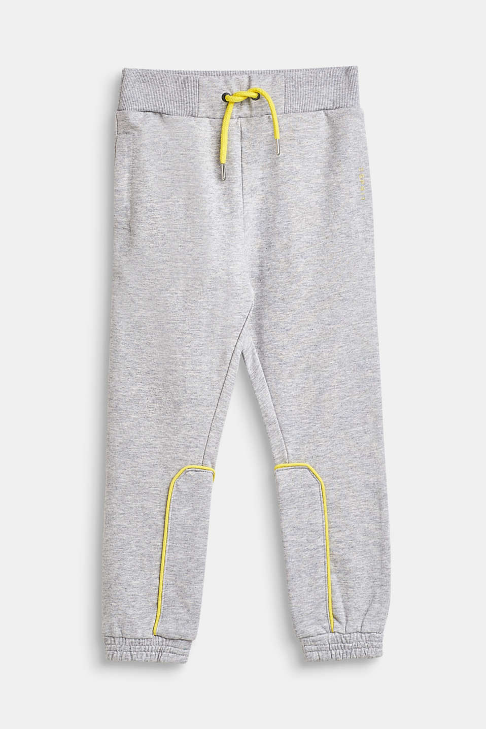 Esprit - Piped sweatshirt trousers, 100% cotton