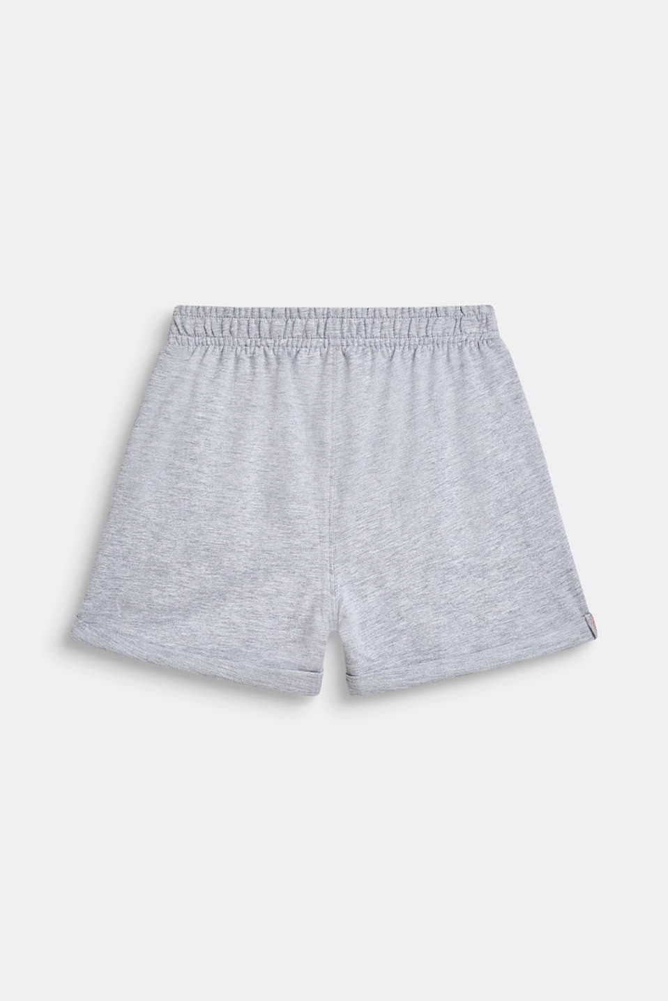 Blended cotton sweat shorts, LCHEATHER SILVER, detail image number 1