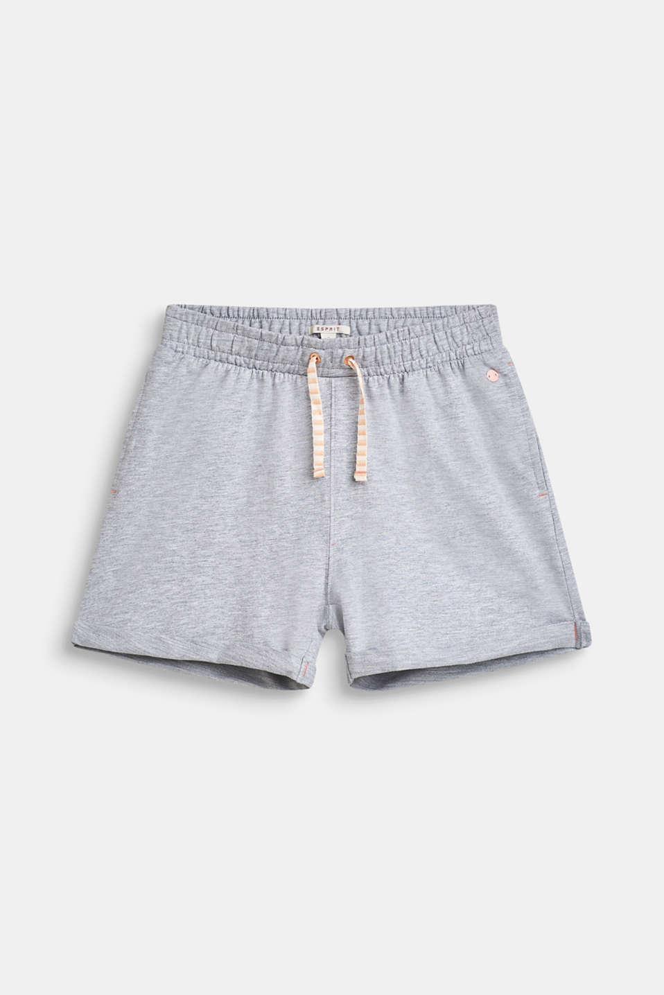 Blended cotton sweat shorts, LCHEATHER SILVER, detail image number 0