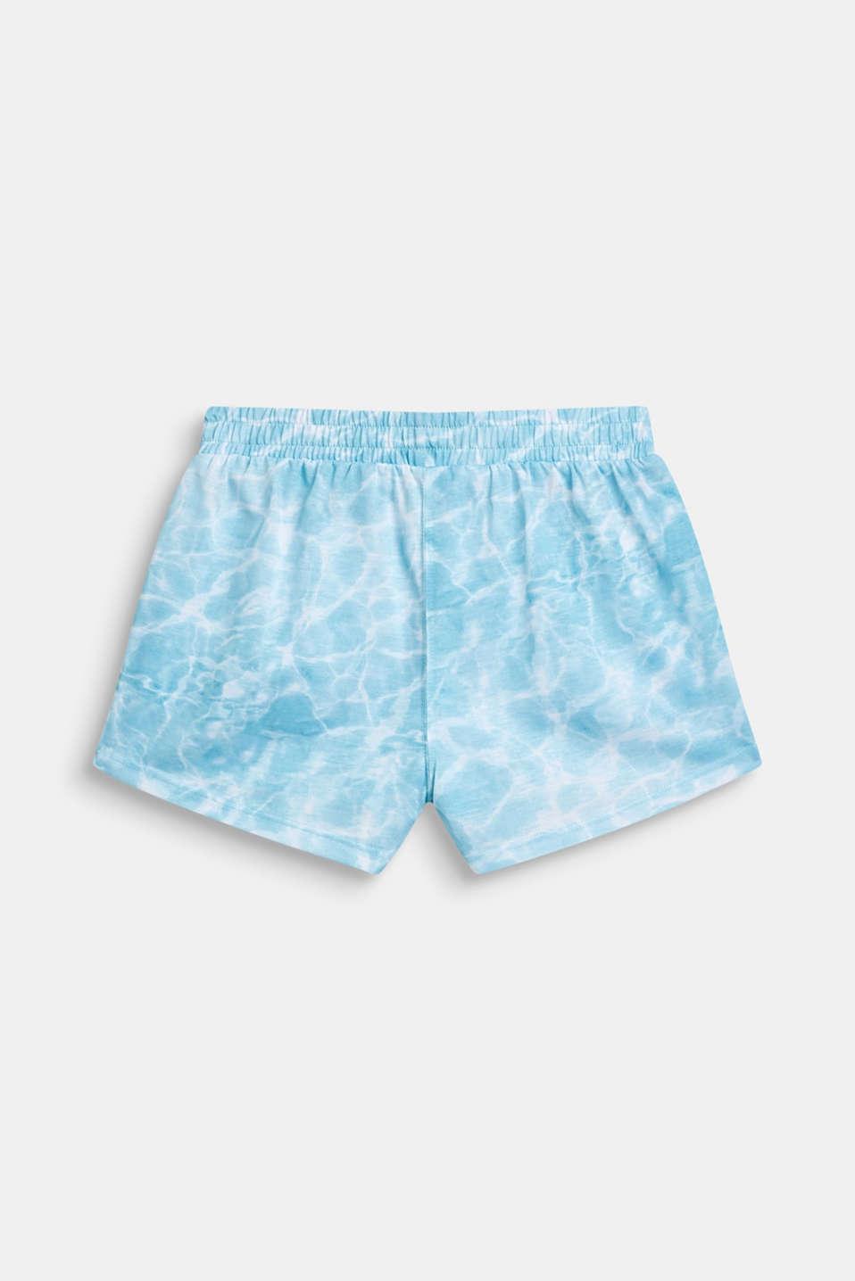 Jersey shorts with batik print, LCICE BLUE, detail image number 1