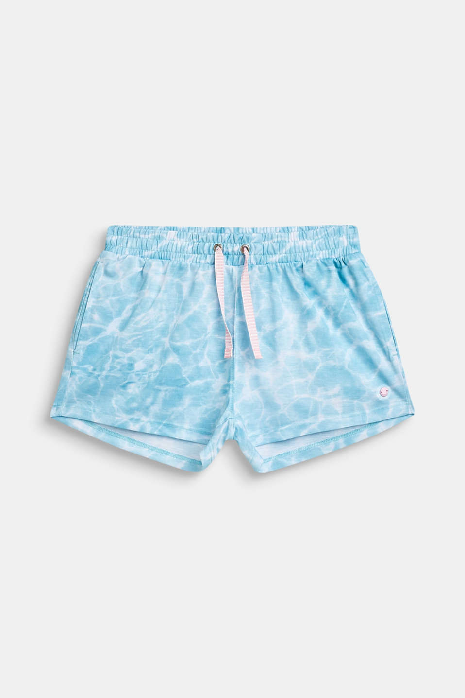 Esprit - Jersey shorts with batik print