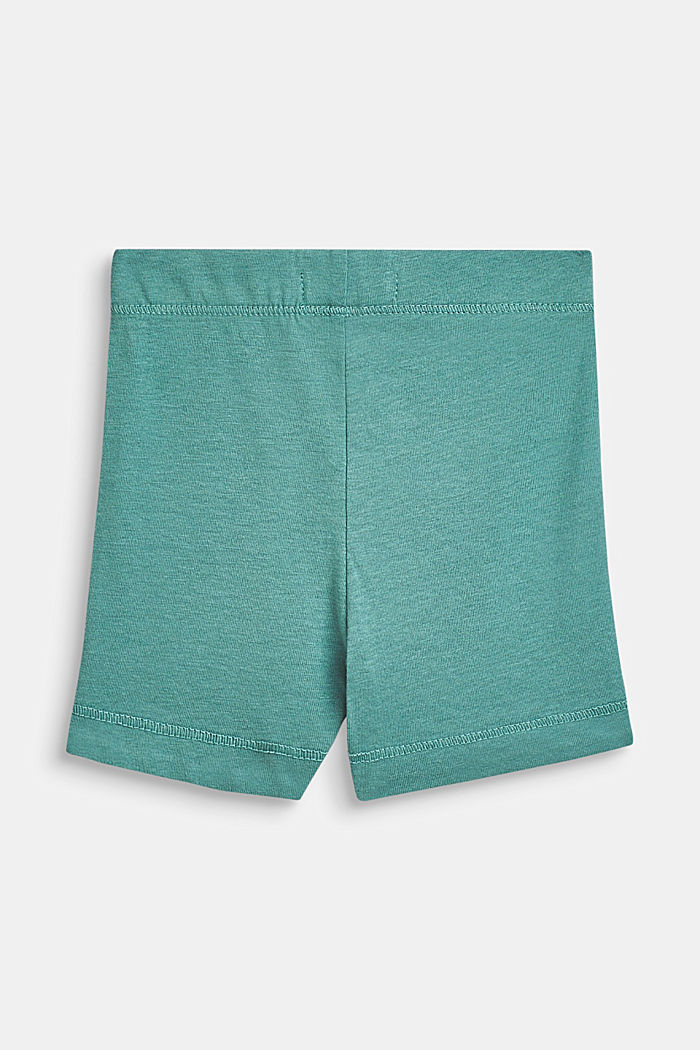 Jersey shorts with an animal motif, 100% cotton, SOFT GREEN, detail image number 1
