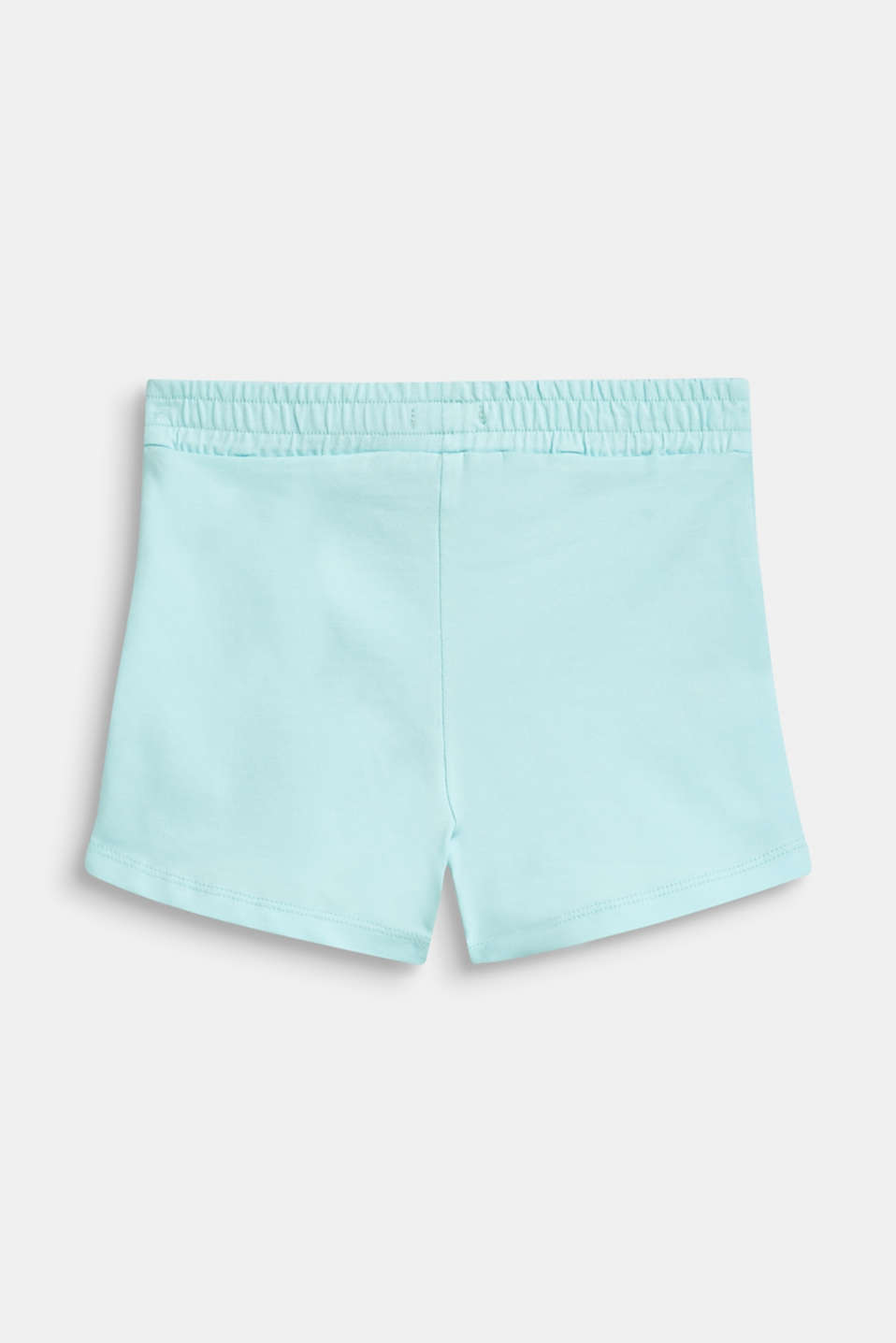 Jersey shorts in a basic style, ICE BLUE, detail image number 1