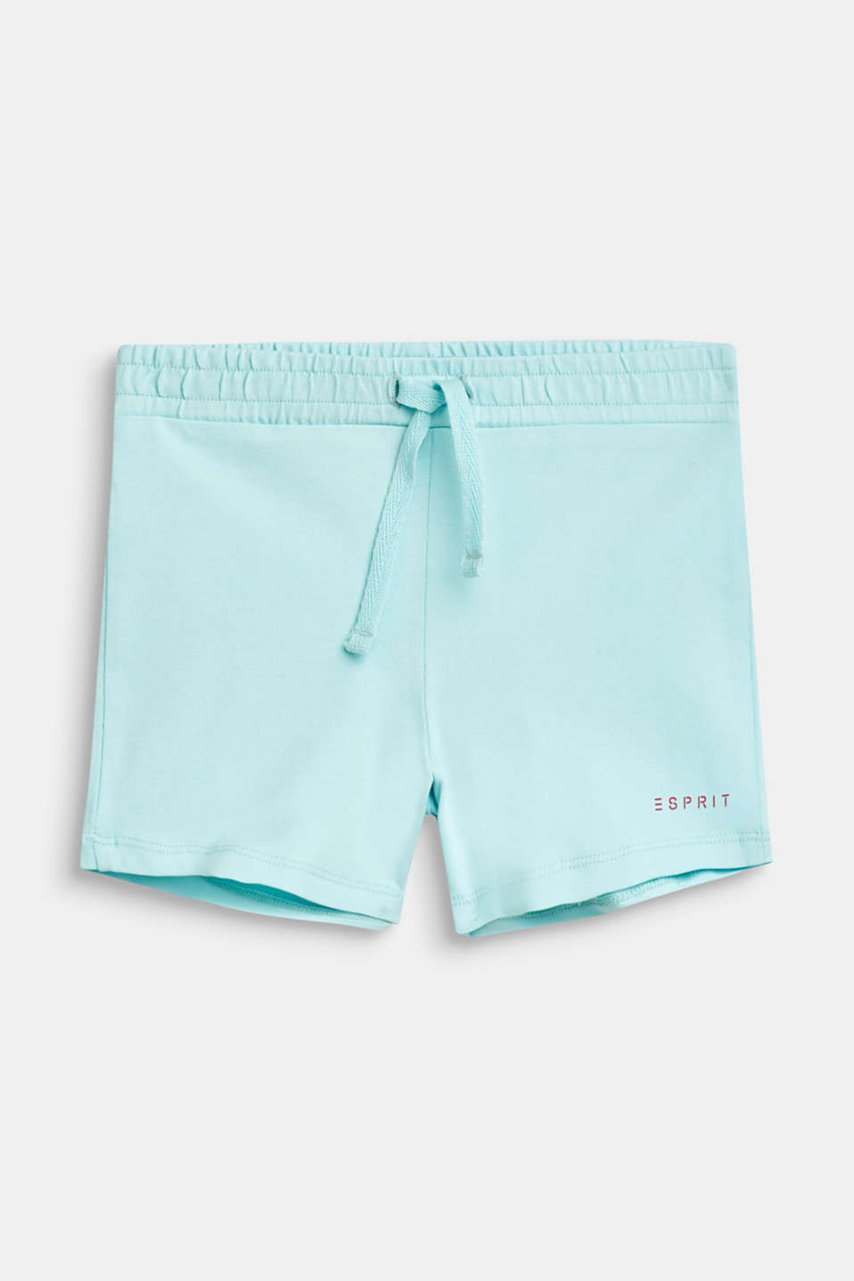 Jersey shorts in a basic style, ICE BLUE, detail image number 0