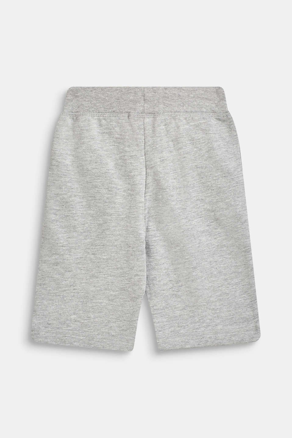 Sweatshirt shorts in 100% cotton, HEATHER SILVER, detail image number 1