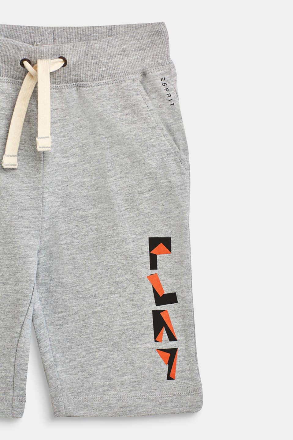 Sweatshirt shorts in 100% cotton, HEATHER SILVER, detail image number 2
