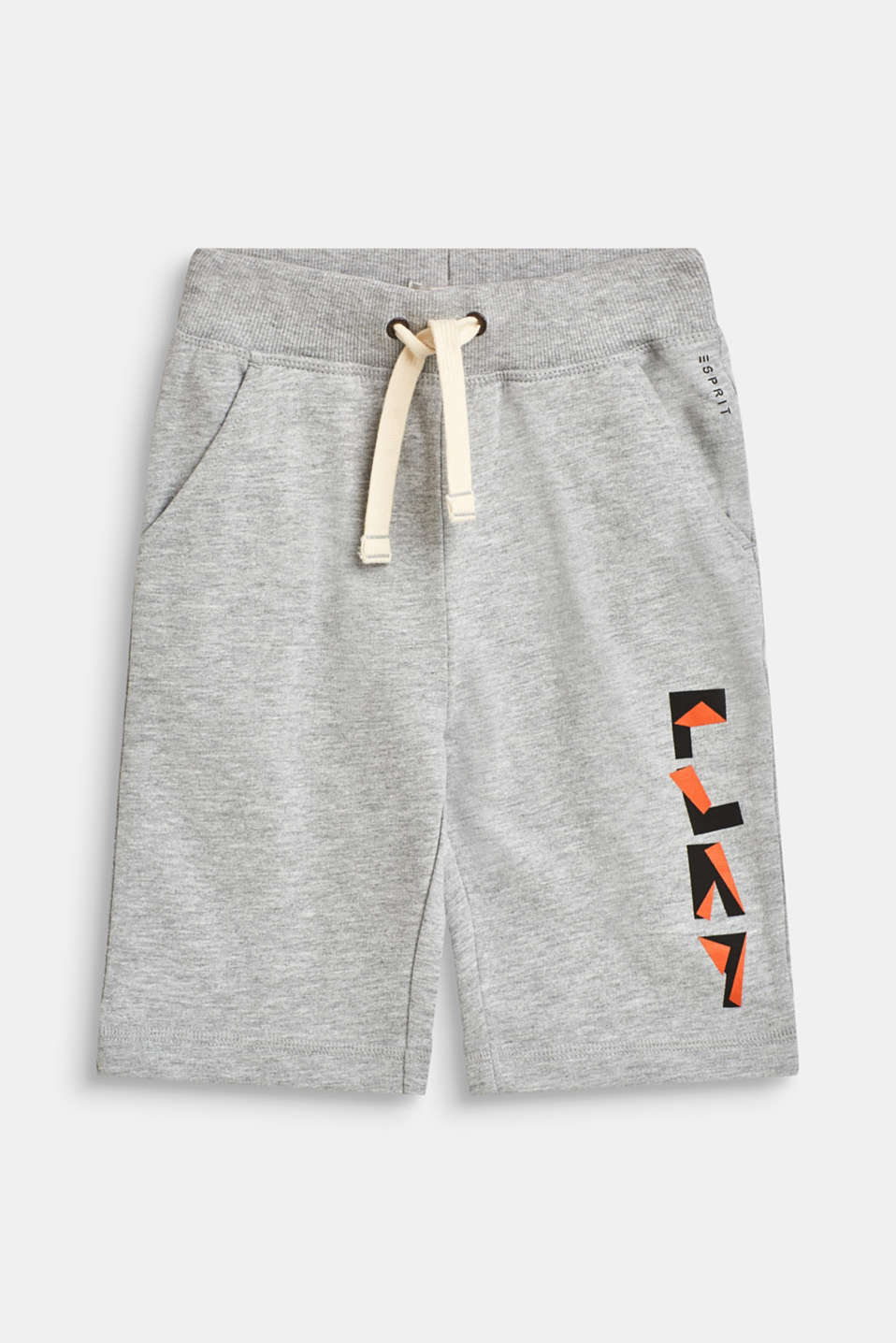 Sweatshirt shorts in 100% cotton, HEATHER SILVER, detail image number 0