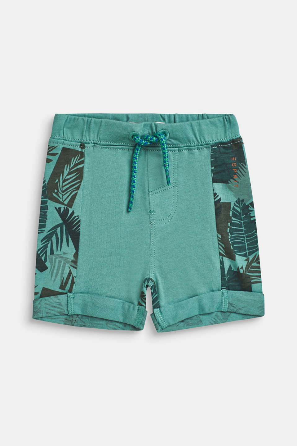 Esprit - Sweat-Shorts mit Tropical Print, 100% Baumwolle