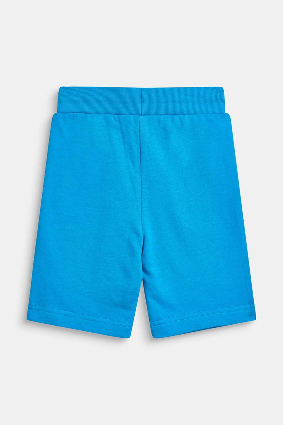Sweatshirt Bermudas with print, 100% cotton, BRIGHT BLUE, detail image number 1