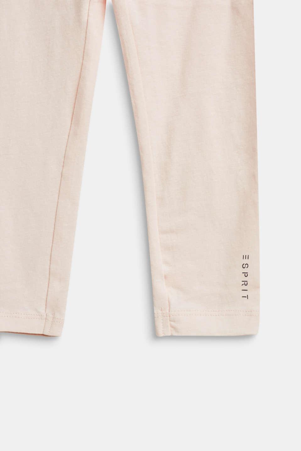 Basic stretch cotton leggings, PEARL ROSE, detail image number 2