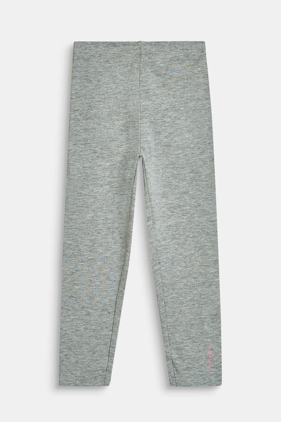 Esprit - Opaque leggings made of melange jersey