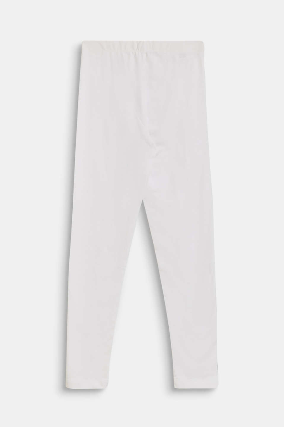 Cotton leggings with added stretch for comfort, LCWHITE, detail image number 1