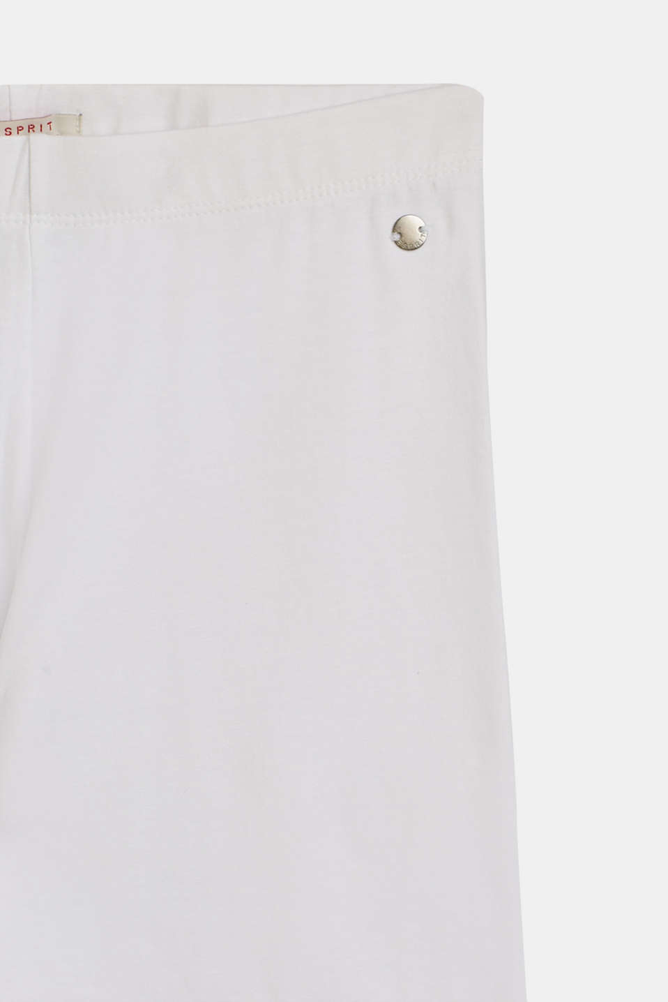 Cotton leggings with added stretch for comfort, LCWHITE, detail image number 2