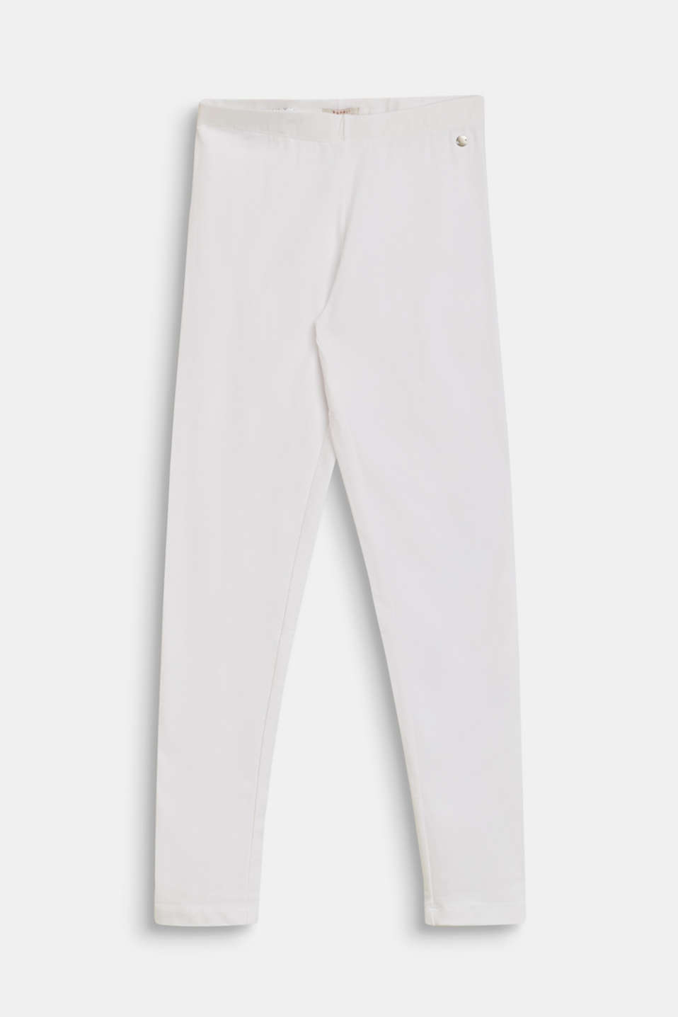 Cotton leggings with added stretch for comfort, LCWHITE, detail image number 0