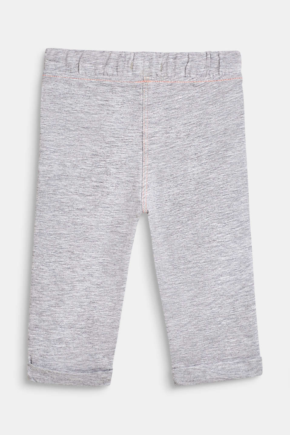 Melange blended cotton leggings, LCHEATHER SILVER, detail image number 1