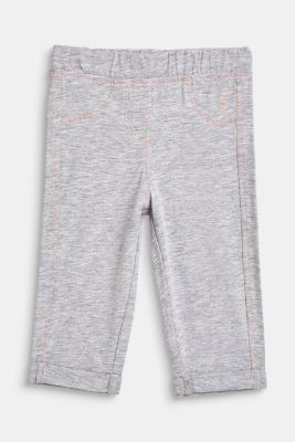 Melange blended cotton leggings, LCHEATHER SILVER, detail