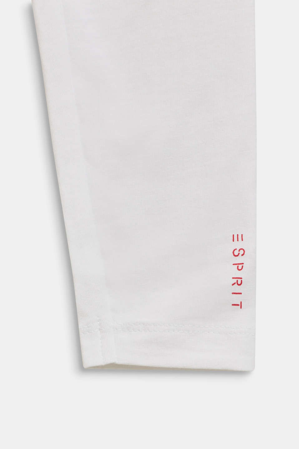 Stretch cotton leggings, WHITE, detail image number 2