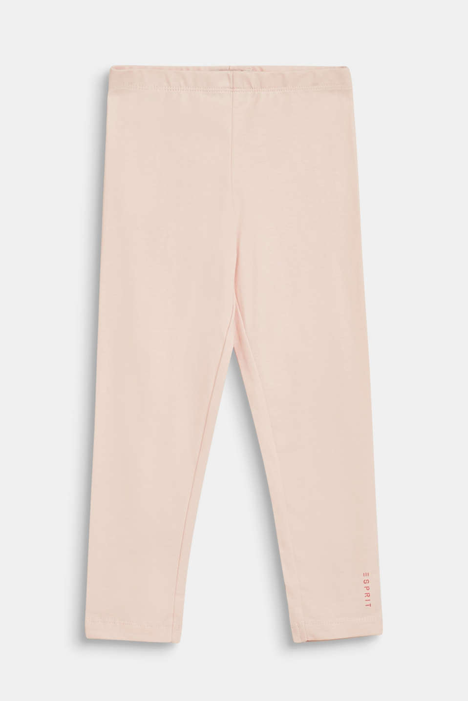 Stretch cotton leggings, BLUSH, detail image number 0