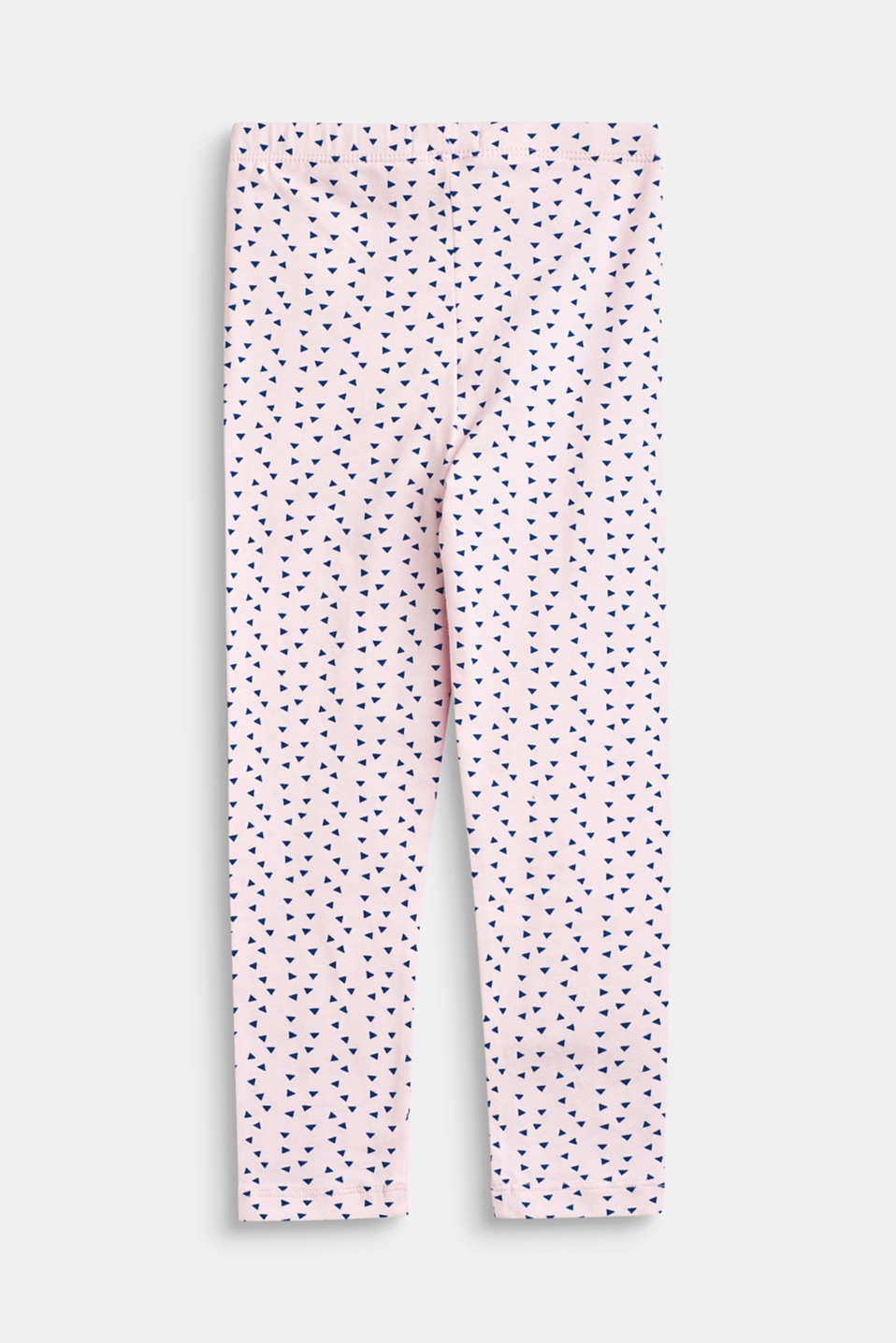 Leggings with an all-over print, stretch cotton, BLUSH, detail image number 1