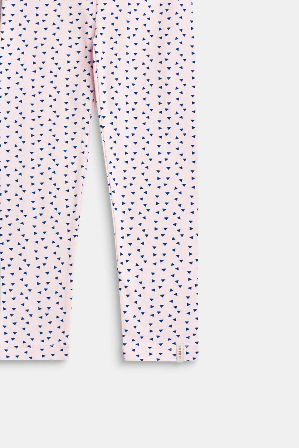Leggings with an all-over print, stretch cotton, BLUSH, detail image number 2
