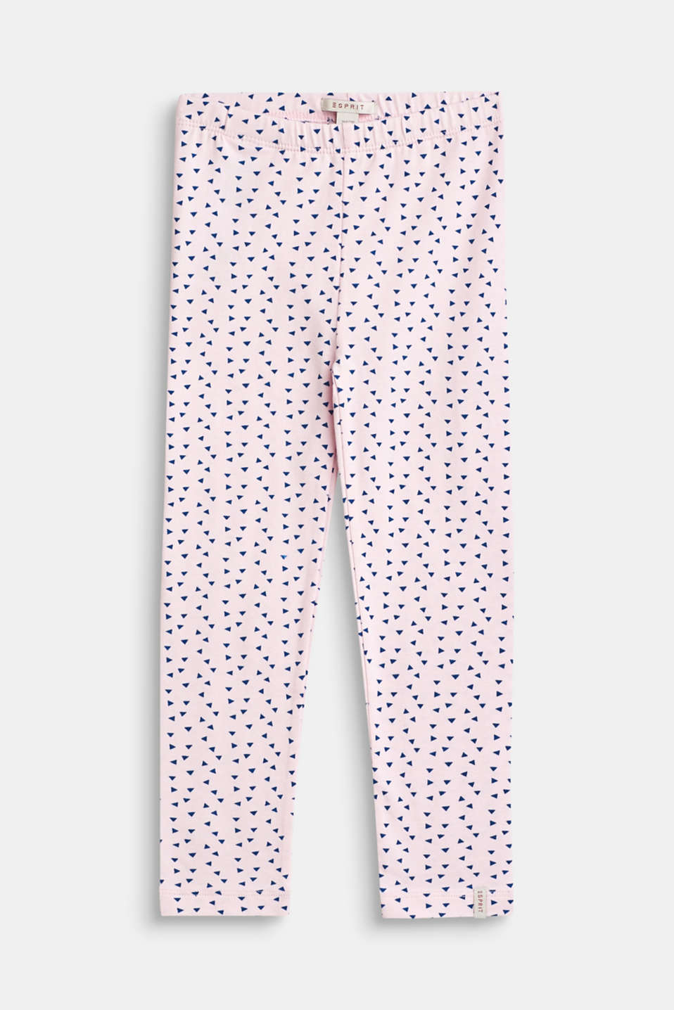 Leggings with an all-over print, stretch cotton, BLUSH, detail image number 0
