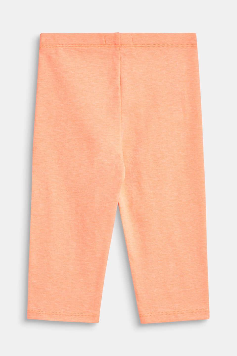 Melange, capri-length leggings, NEON CORAL, detail image number 1