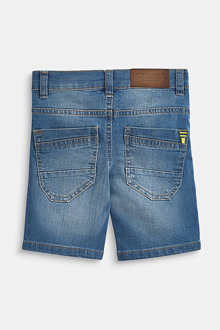 Bermuda di jeans stretch con cintura regolabile, MEDIUM WASH DE, detail image number 1