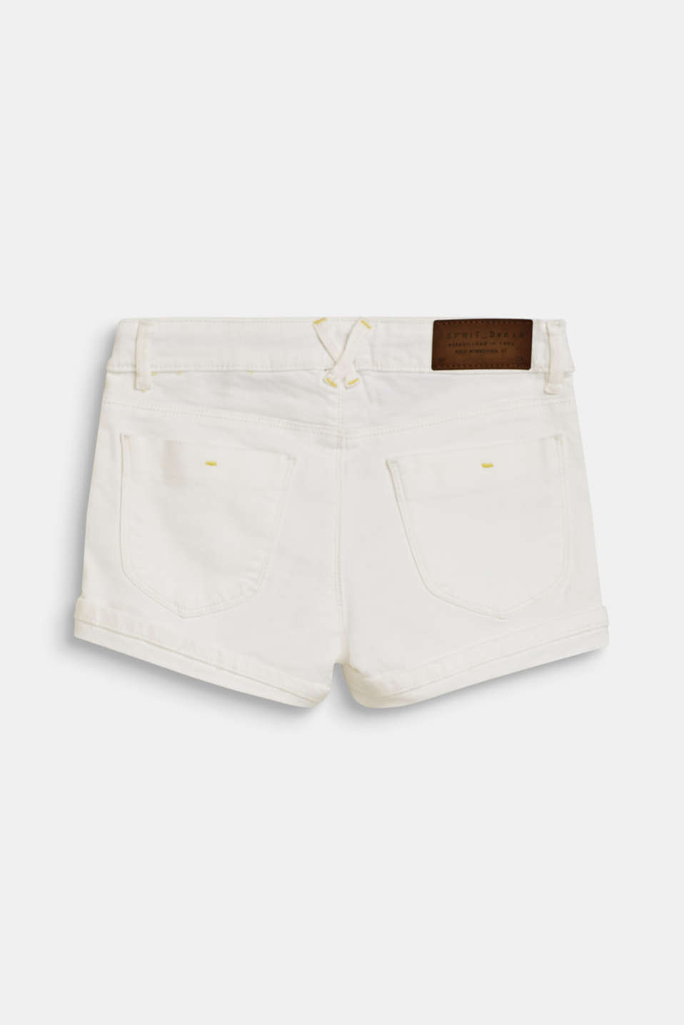 Denim shorts with an adjustable waistband, LCWHITE, detail image number 1