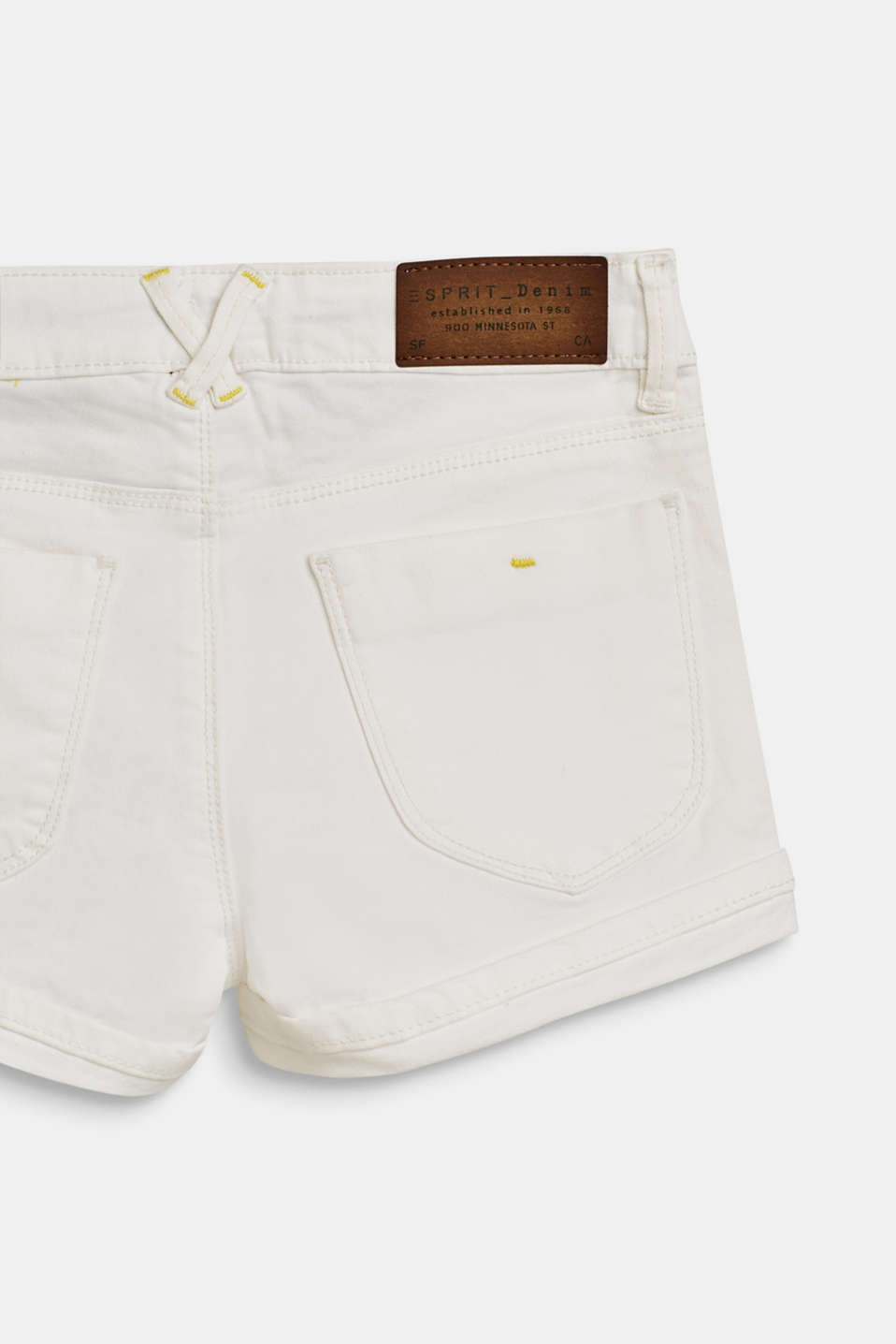 Denim shorts with an adjustable waistband, LCWHITE, detail image number 3