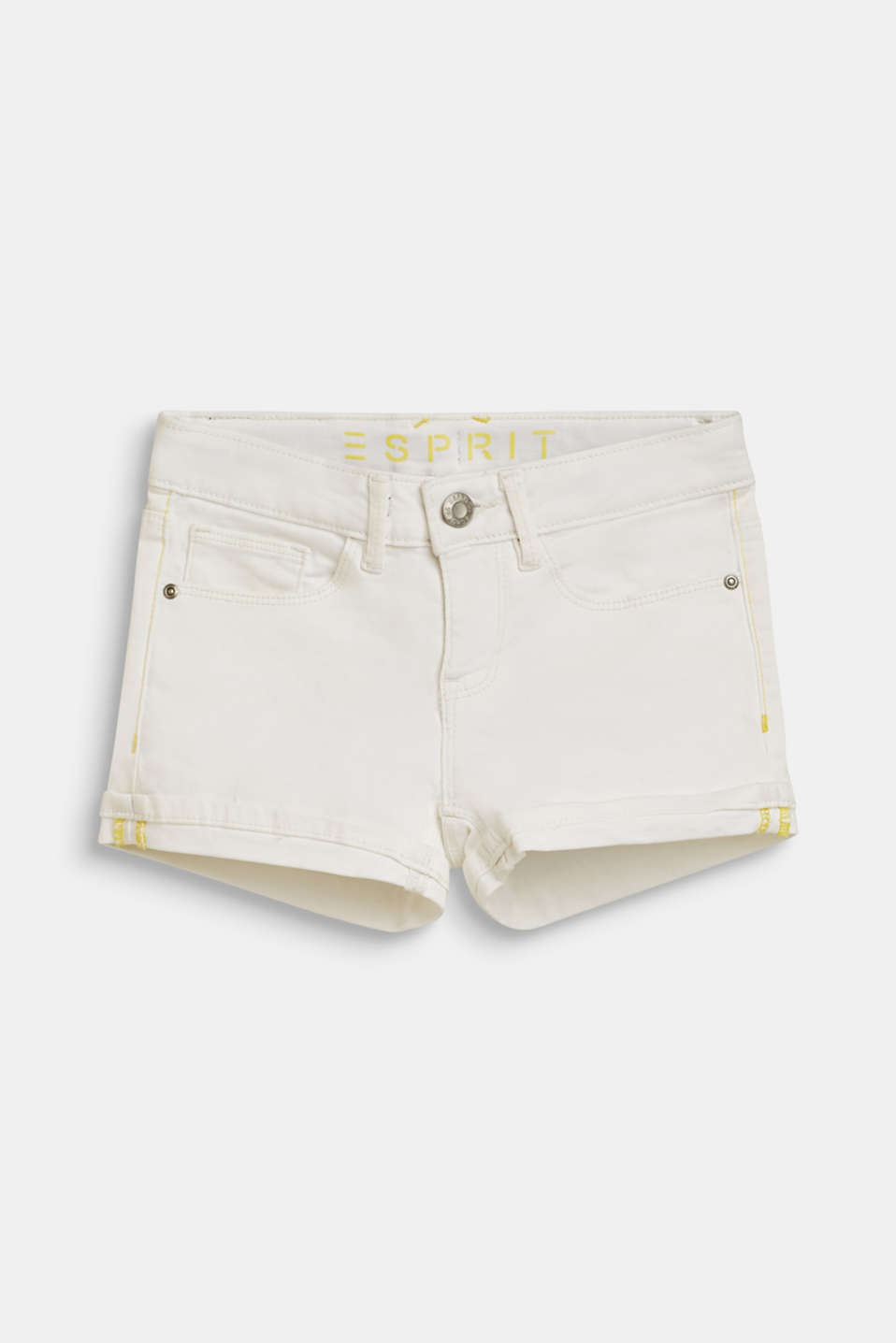 Denim shorts with an adjustable waistband, LCWHITE, detail image number 0