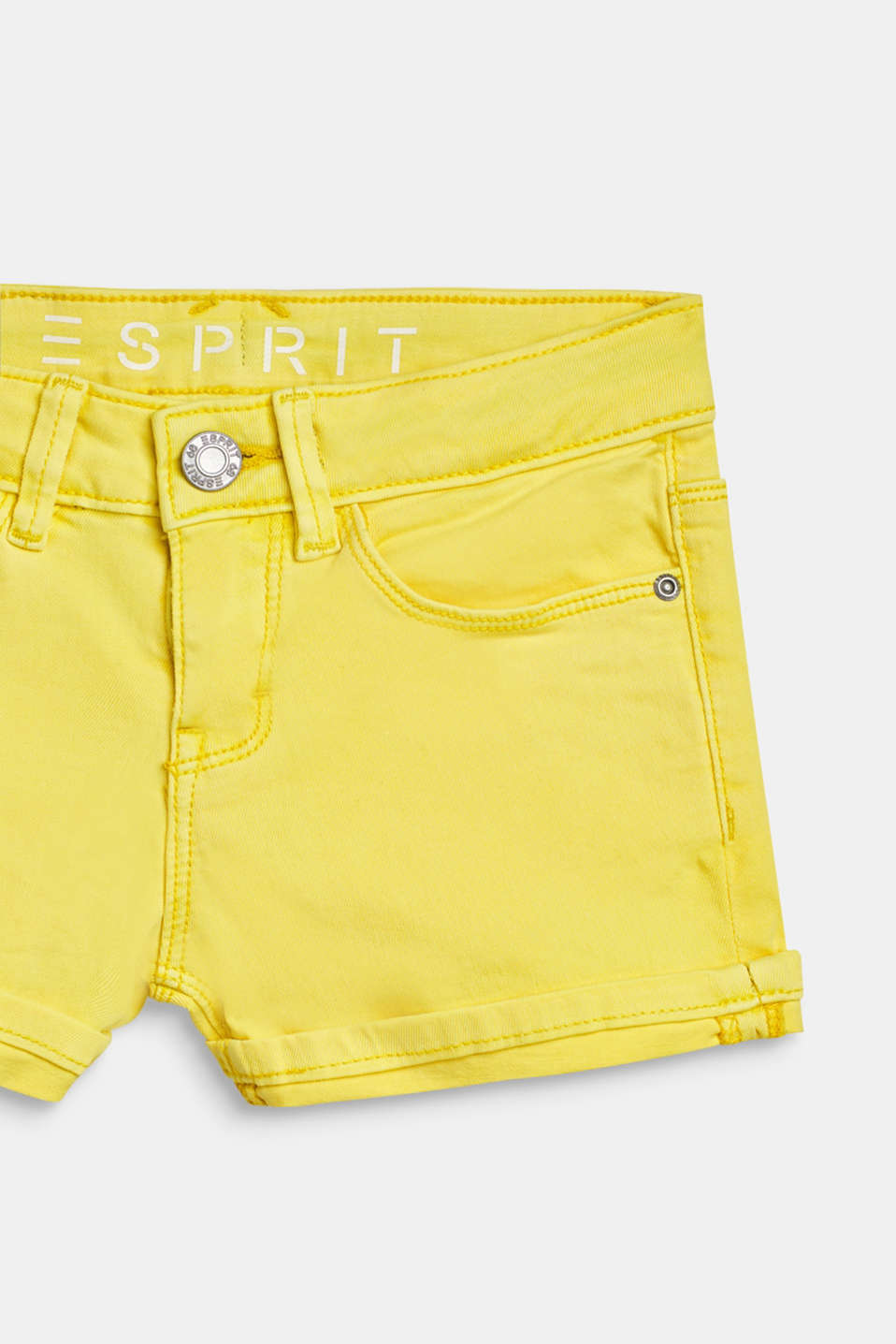 Denim shorts with an adjustable waistband, LCLEMON DROP, detail image number 2