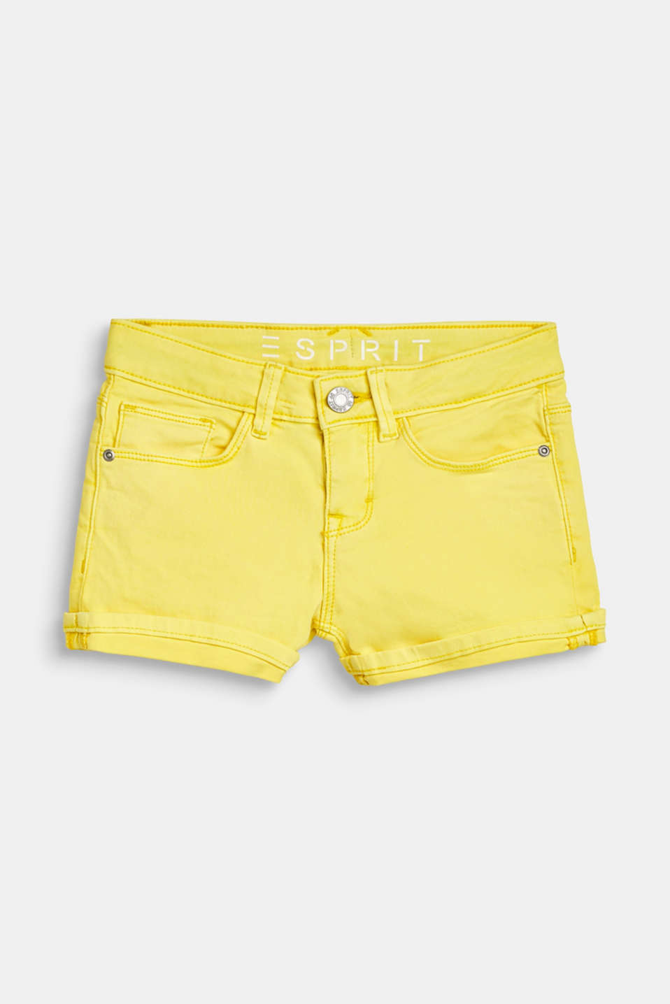 Denim shorts with an adjustable waistband, LCLEMON DROP, detail image number 0