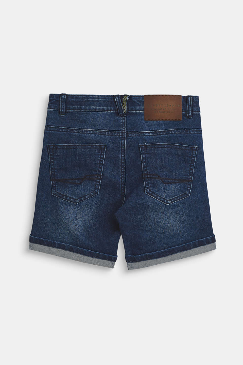 Stretch denim shorts with an adjustable waistband, LCMEDIUM WASH DE, detail image number 1