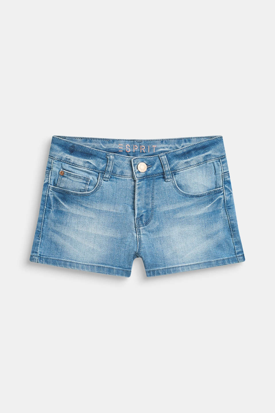 Esprit - Superstretch-denimshorts med used-vask