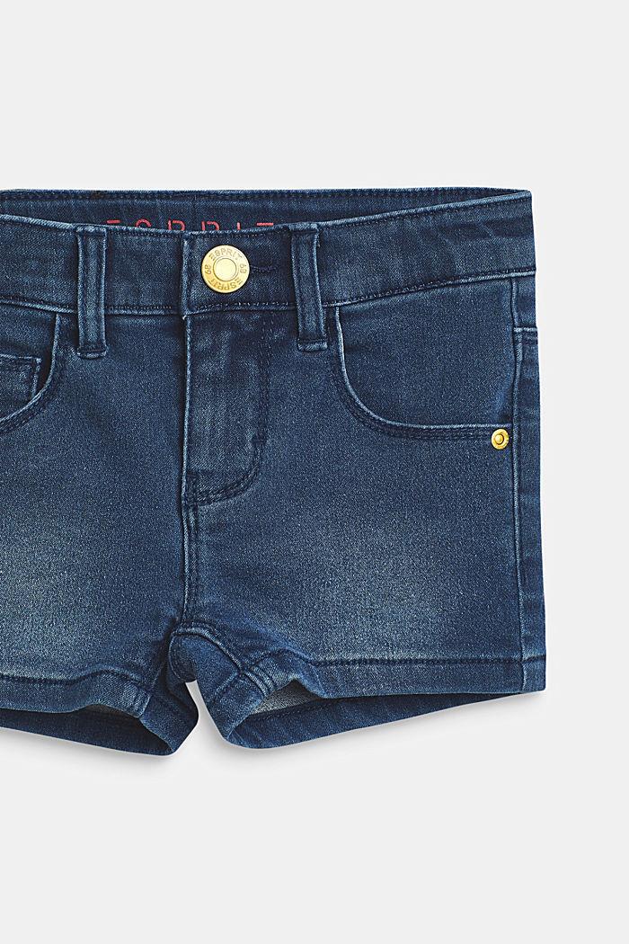 Short en jean stretch à taille ajustable, BLUE MEDIUM WASHED, detail image number 2